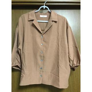 Discoat - ディスコート購入 ブラウンシャツ ブラウス 七分袖