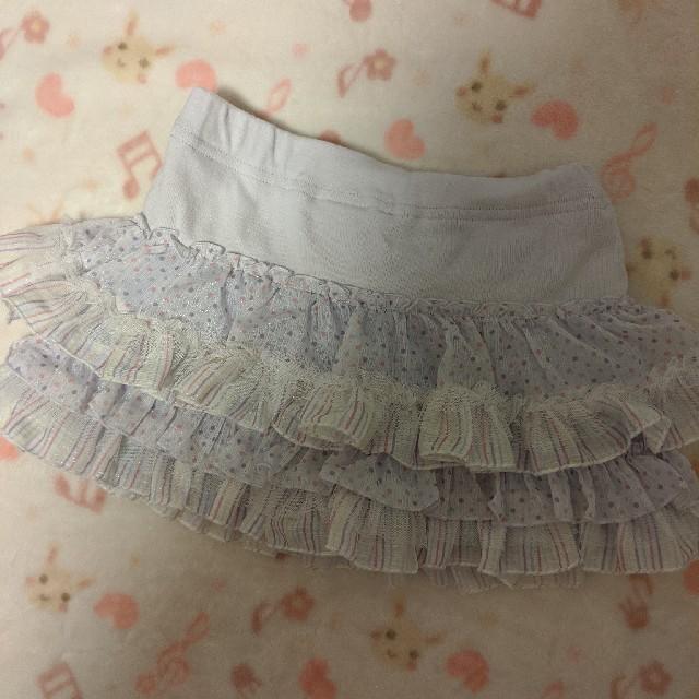 mezzo piano(メゾピアノ)のメゾピアノ フリルスカパン キッズ/ベビー/マタニティのキッズ服女の子用(90cm~)(スカート)の商品写真