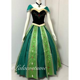 新品未使用☆*。 アナと雪の女王 アナ 戴冠式 グリーン ドレス(衣装)