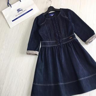 BURBERRY BLUE LABEL - バーバリーブルーレーベル 七分袖 デニム ワンピース 38サイズ