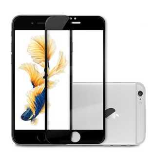 iPhone7Plus/8Plus ブラック 液晶強化ガラス保護フィルム Pow(モバイルケース/カバー)
