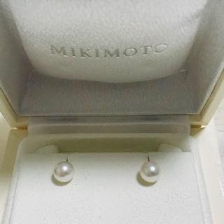 ミキモト(MIKIMOTO)の未使用品 定番 大珠 ミキモト  ピアス k18 WG 7.4ミリ、7.35ミリ(ピアス)