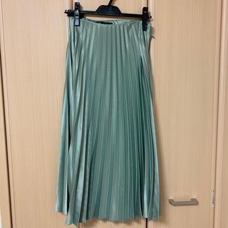ZARA - サテンプリーツスカート
