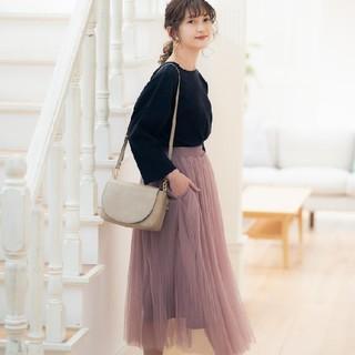 シマムラ(しまむら)の大人気プチプラのあや チュールスカート(ロングスカート)