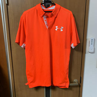 UNDER ARMOUR - UNDER ARMOUR ポロシャツ オレンジ XL