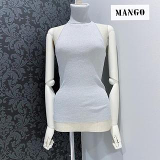 マンゴ(MANGO)のMNG マンゴー ◆ シルバーラメ ハイネック リブ ニット トップス (カットソー(半袖/袖なし))
