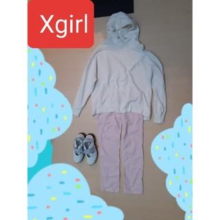 エックスガール(X-girl)のXgirl ピンクコーデュロイパンツ(カジュアルパンツ)