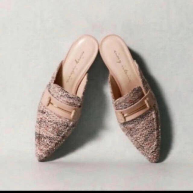 eimy istoire(エイミーイストワール)のeimy istoire ツイードローファーミュール レディースの靴/シューズ(ローファー/革靴)の商品写真