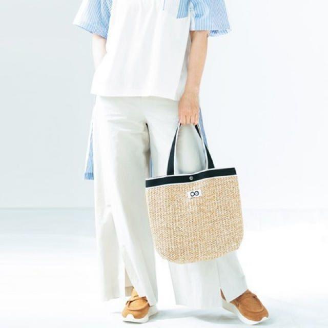 宝島社(タカラジマシャ)の素敵なあの人 夏号 付録 結城アンナ&PLAIN PEOPLE かごバッグ エンタメ/ホビーの雑誌(ファッション)の商品写真