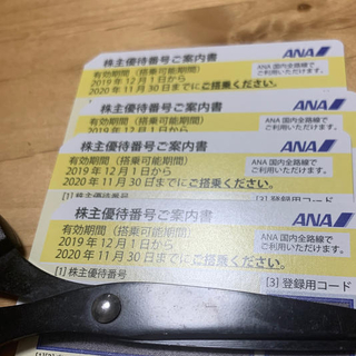 ANA 株主優待 全日空 航空券 4枚 セット(航空券)