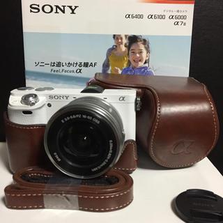 SONY - 新品ケース★Wi-Fi★高画質フルHD★SONY α6000 ミラーレス★白茶