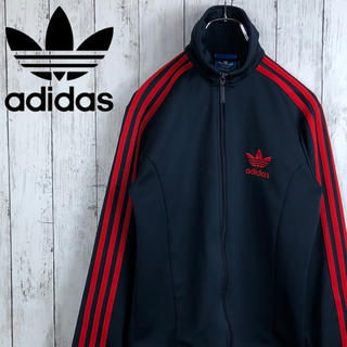 adidas - 【アディダス】刺繍ロゴ☆ファイヤーバード☆トラックジャケット☆ジャージ☆濃紺x赤