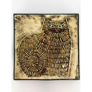 Lisa Larson - ★希少★ リサラーソン 陶板 UNIK KATT ネコ 猫 グスタフスベリ