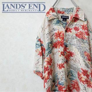 ランズエンド(LANDS'END)のLANDS' END ランズエンド アロハシャツ 90s USA古着(シャツ)