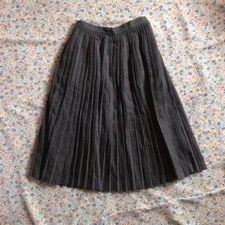 ザラ(ZARA)のウール100% 膝丈 プリーツスカート(ひざ丈スカート)