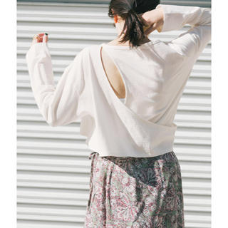 ケービーエフプラス(KBF+)のKBF+  アシメレイヤードカットアウトロングTシャツ(Tシャツ(半袖/袖なし))