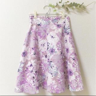 PROPORTION BODY DRESSING - 【美品】プロポーションボディドレッシング 花柄フレアスカート