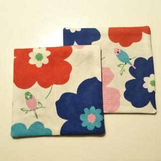お花とインコ☆コースターセット(カトラリー/箸)