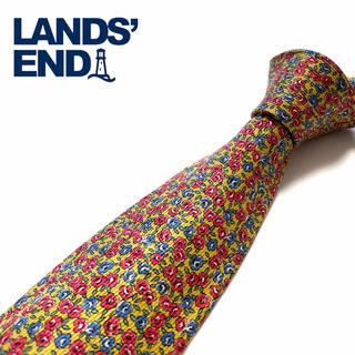 ランズエンド(LANDS'END)の【美品】LANDS END ネクタイ 米国製 花柄(ネクタイ)
