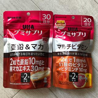 ユーハミカクトウ(UHA味覚糖)のUHA味覚糖グミサプリ 亜鉛&マカ、マルチビタミンセット(ビタミン)