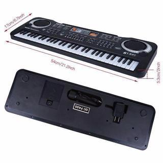デジタルキーボード 61キー 6デモソング/16音色/10リズム 高音質 ¥4 (ミキサー)