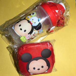 ディズニー(Disney)の【新品】ツムツム水筒&エコバッグ★2個セット(キャラクターグッズ)
