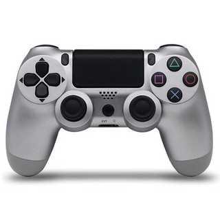 PS4 ワイヤレスコントローラー シルバー 銀色(その他)