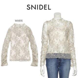 snidel - パッカリングレーストップス