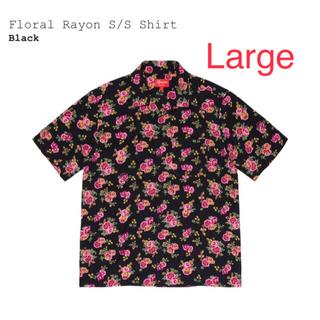 Supreme - Supreme Floral Rayon S/S Shirt Large