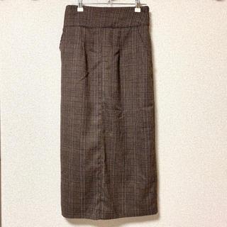 チェック ロングスカート(ロングスカート)