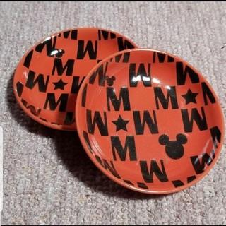ディズニー(Disney)のDisneyミッキー 陶器小皿セット(レッド)(キャラクターグッズ)