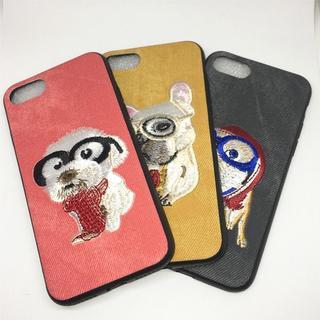 イヌが刺繍されためちゃくちゃ可愛いiPhoneケース(iPhoneケース)