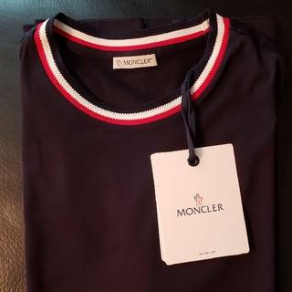 モンクレール(MONCLER)の【新品タグ付】MONCLER  Tシャツ ネイビー(Tシャツ/カットソー(半袖/袖なし))
