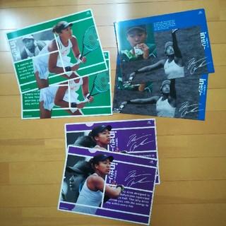 大阪なおみ 錦織圭 クリアファイル 3種類 計6枚セット(スポーツ選手)