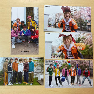Myojo SixTONES 厚紙カード(男性アイドル)