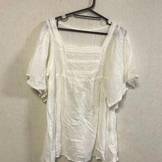 クチュールブローチ(Couture Brooch)の美品☆クチュールブローチ☆袖デザインシャツ(シャツ/ブラウス(半袖/袖なし))