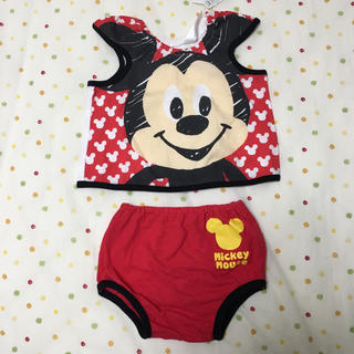 ディズニー(Disney)の[新品 タグ付き]  ミッキーマウス  夏服  70cm(タンクトップ/キャミソール)