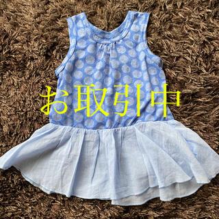 ハッカベビー(hakka baby)のハッカベビー チュニック丈トップス ミニワンピース 100(Tシャツ/カットソー)