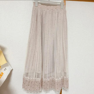 axes femme - axes☆裾デザインチュールロングスカート