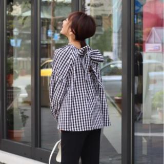 Drawer - ロージーモンスター wing ribbon blouse ギンガムチェック
