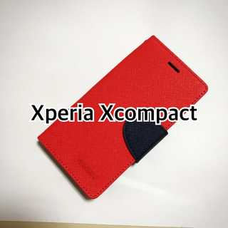 Xcompact レッド×ブルー typeM(Androidケース)