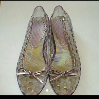 パープルラバーシューズ(レインブーツ/長靴)