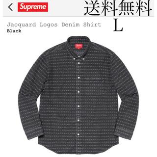 Supreme - Supreme Jacquard Logos Denim Shirt Lサイズ