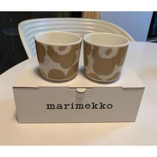 marimekko - ☆マリメッコ☆ウニッコ ベージュ ラテマグセット♪新品