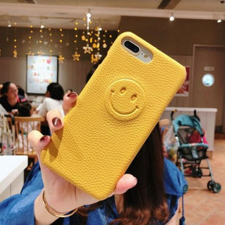 iPhone7/8Pケース ニコちゃんマーク イエロー(iPhoneケース)