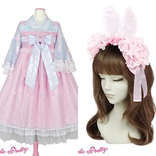Angelic Pretty - 兎慶ぶ花宴ワンピース&カチューシャ