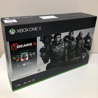 エックスボックス(Xbox)の新品未開封 送料込 Xbox One X (Gears 5 同梱版) (家庭用ゲーム機本体)