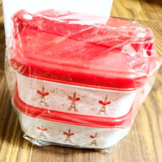 クラランス(CLARINS)のかわいいランチボックス 2段 クラランス 高額購入者特典 おしゃれ 弁当箱(弁当用品)