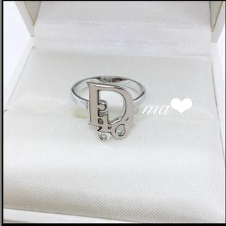 ディオール(Dior)のDIOR ディオール Dior ロゴリング シルバーリング 正規品 お箱有(リング(指輪))