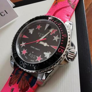 グッチ(Gucci)のgucci グッチ ダイブ 40mm ダイバーズウォッチ フローラピンク 正規品(腕時計(アナログ))